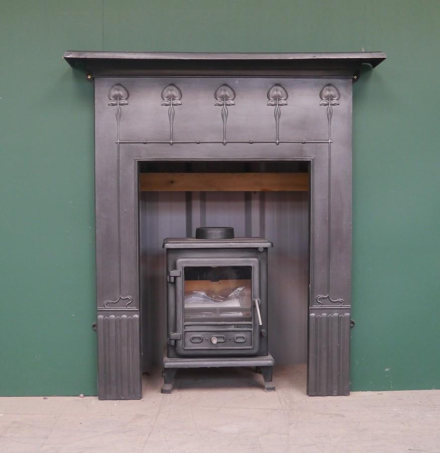 Art Nouveau Small Cast Iron Surround Image