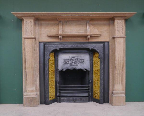 Edwardian Oak Wooden Surround Image