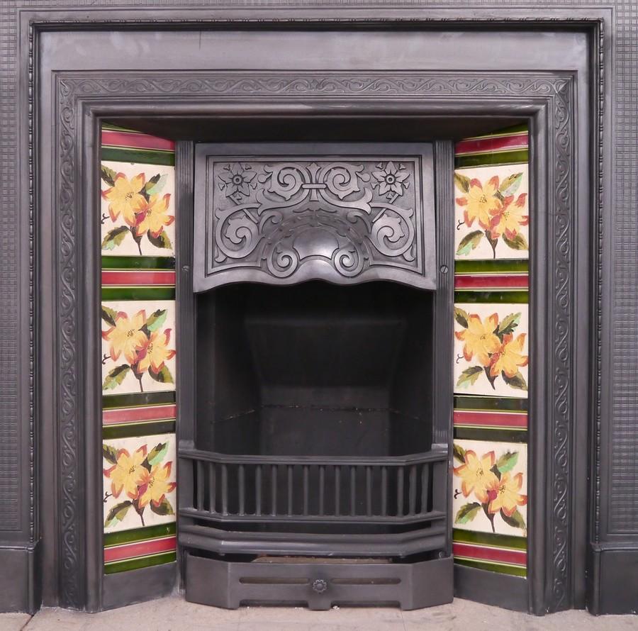 Original Edwardian Cast iron insert Image