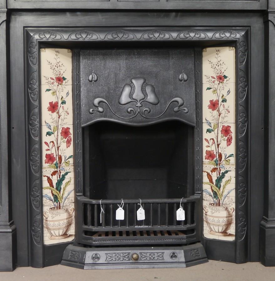 Reclaimed Art Nouveau Cast iron insert Image