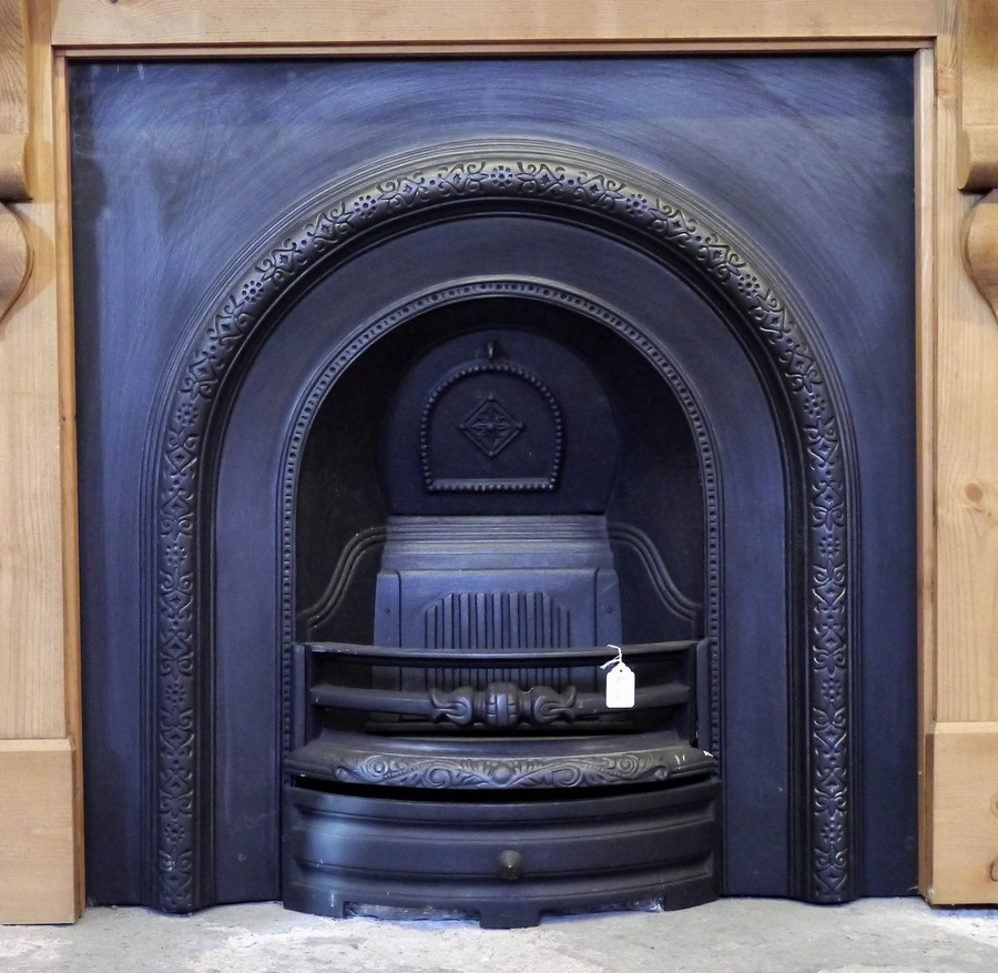 Reproduction Cast Iron Arched Insert Image