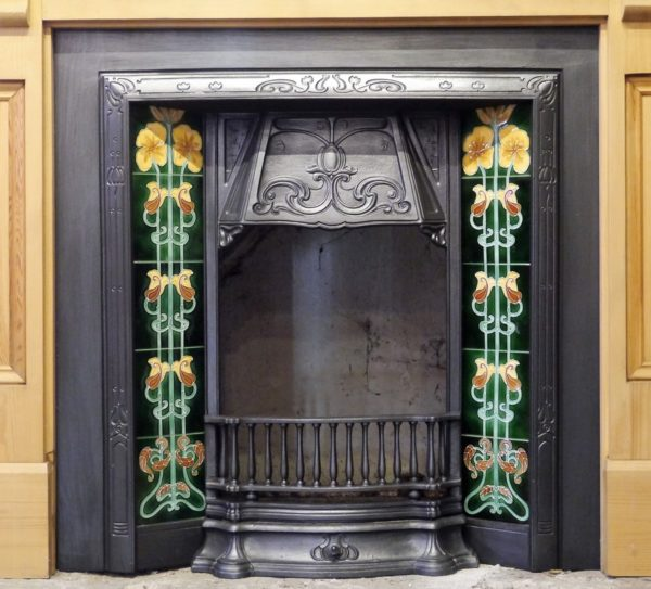 Reproduction Tiled Cast Iron Insert Image